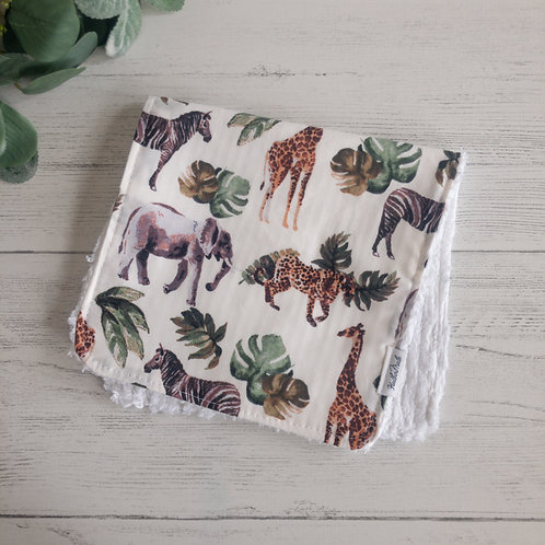Jungle Animals Burp Cloth