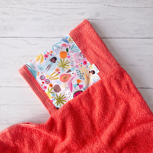 Fun In The Sun Coral Hooded Towel