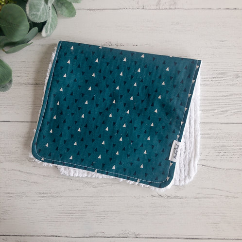 Teal Triangles Burp Cloth