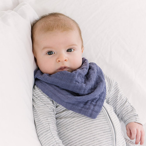 True Blue Scarf Bandana Bib