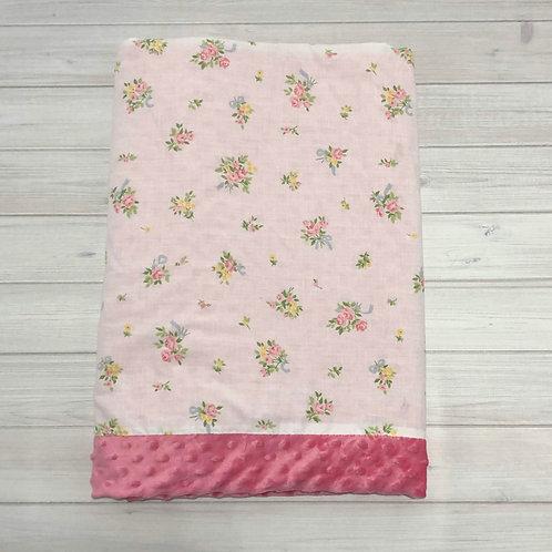 Pink Bouquet Vintage Blanket