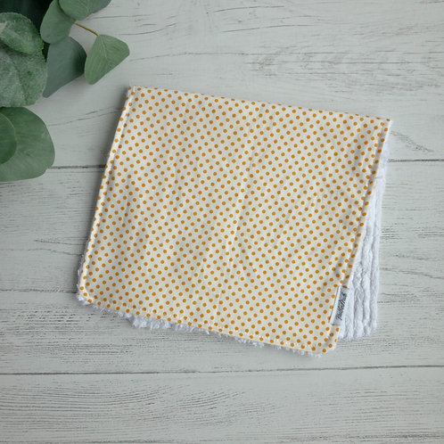Mustard Dots Chenille Burp Cloth