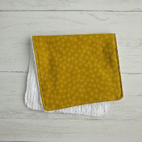 Mustard Speckles Chenille Burp Cloth
