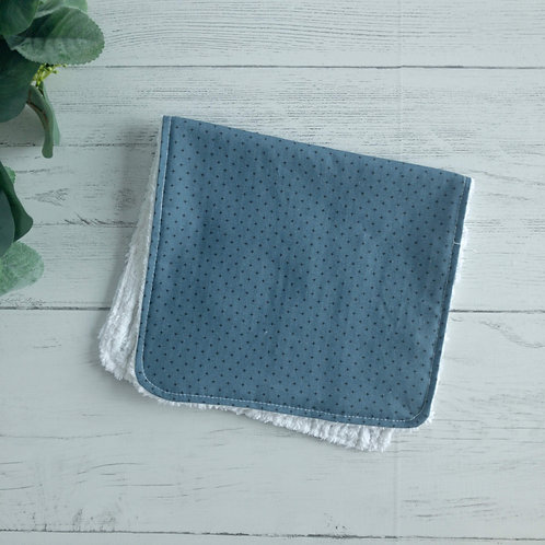 Blue Black Plus Chenille Burp Cloth