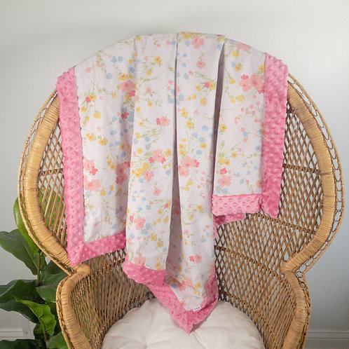 Pink Meadow Vintage Blanket