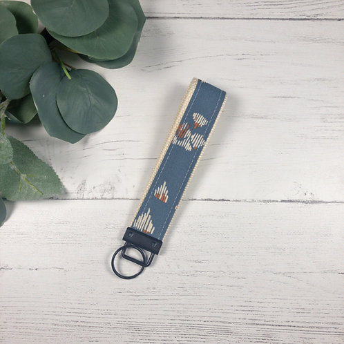Blue Abstract Key Fob