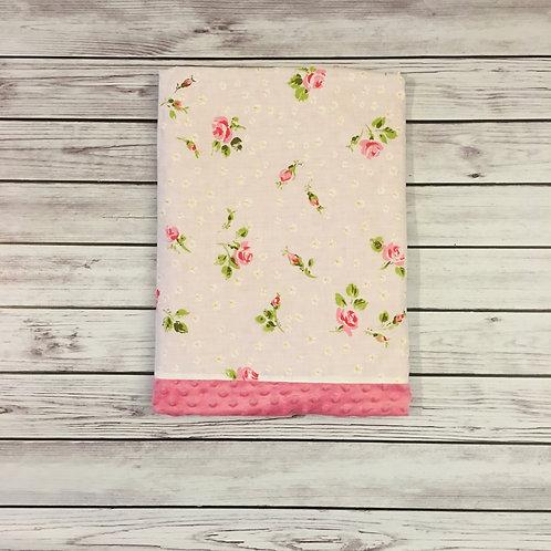 Pink Roses Vintage Sheet Blanket