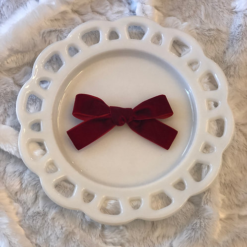 Burgandy Velvet Bow