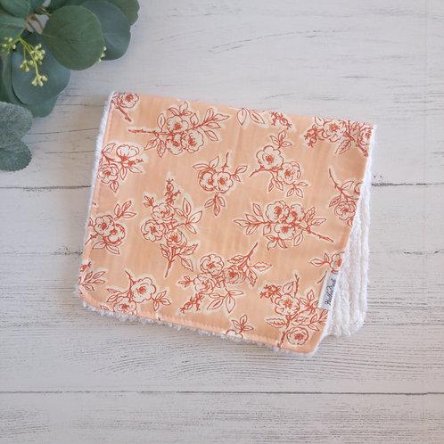 Rambling Rose Briar Chenille Burp Cloth
