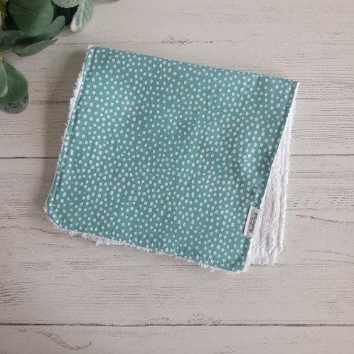 Teal Dots Burp Cloth