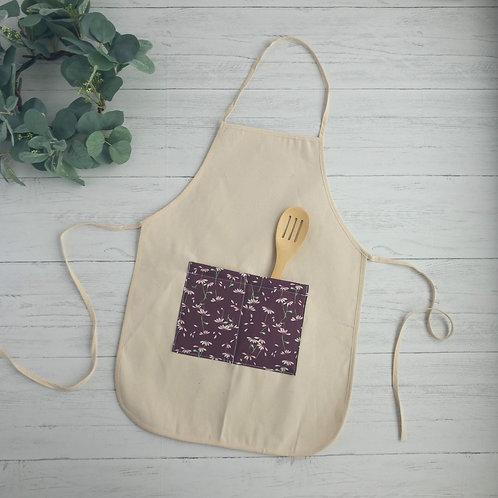 Lavender Daisies Pocket Apron
