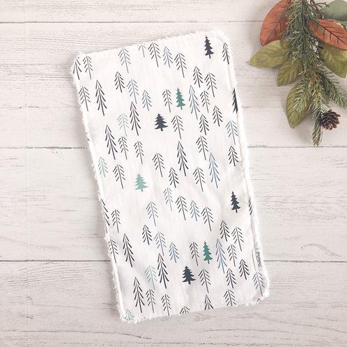 Winter Forest Chenille Burp Cloth