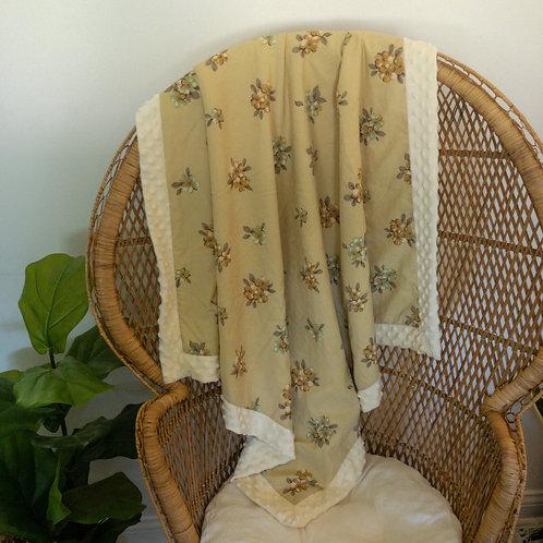 Gold Floral Vintage Blanket