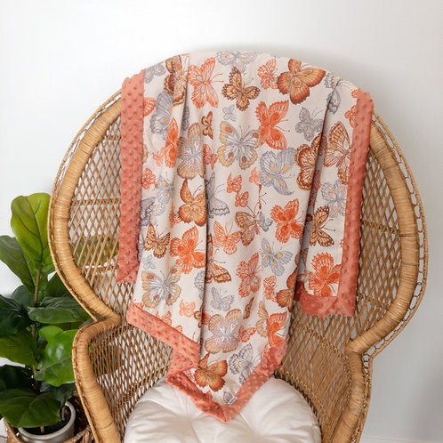 Butterflies Vintage Blanket