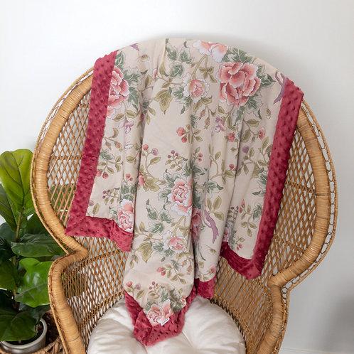 Mauve Roses Vintage Blanket