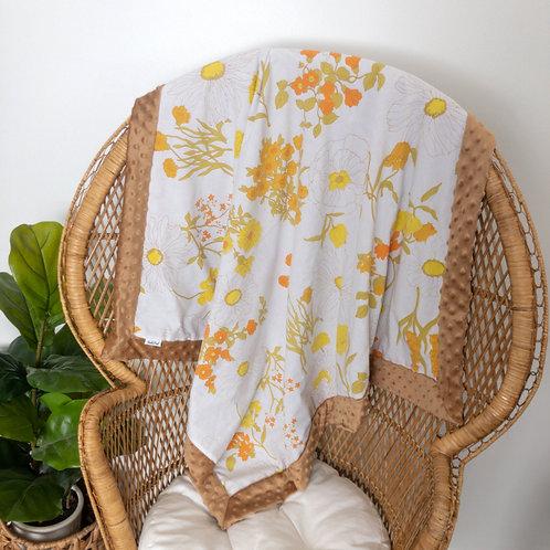 Boho Meadow Vintage Blanket
