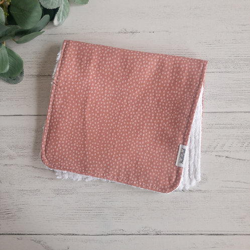 Mauve Dots Burp Cloth