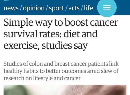 Câncer, alimentação e exercício