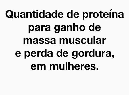 Quantidade de proteína para ganho de massa muscular em mulheres