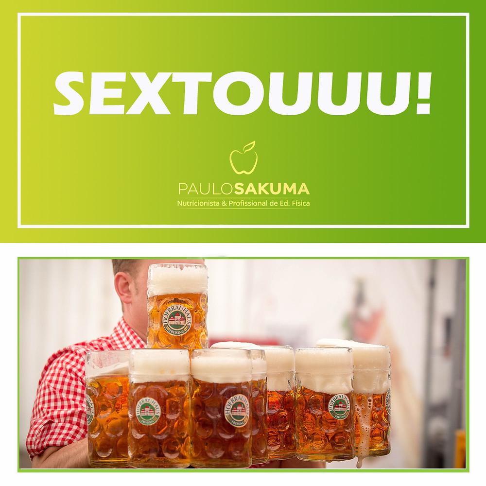 sextou, pode beber cerveja em dieta ?
