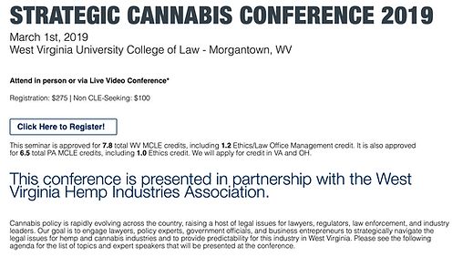 Strategic Cannabis Conference 2019
