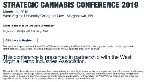 Strategic Cannabis Conference 2019