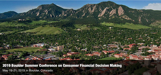 2019 Boulder Summer Conference on Consumer Financial Decision Making