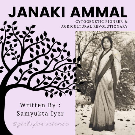 Words Matter: Janaki Ammal - Cytogenetic Pioneer and Agricultural Revolutionary