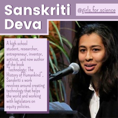 STEM Story: Sanskriti Deva