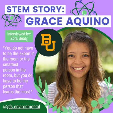 STEM Story: Grace Aquino of Baylor University's Women in Science and Engineering (WISE) and PYPHD