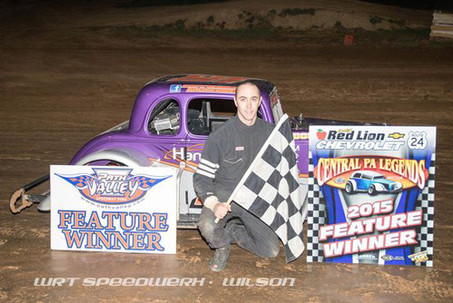 Justin Mitchell Picks Up His First Win at Path Valley Speedway!