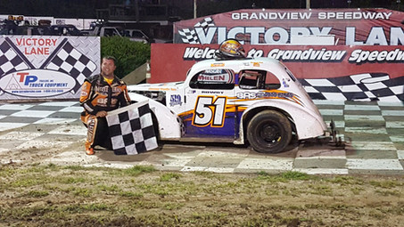 Travis McClelland Takes 4th Central PA Legends Win of 2019 at Grandview Speedway