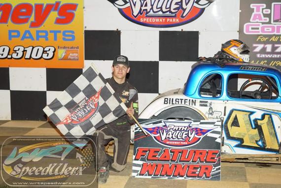 Landen Lewis Wins at Path Valley Speedway