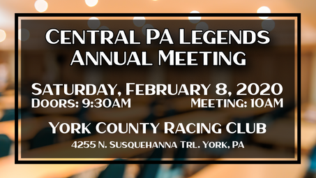 Central PA Legends Annual Meeting Scheduled for Feb. 8, 2020