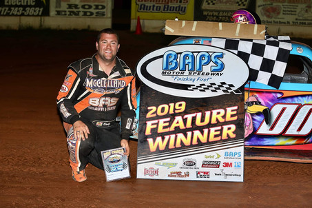 Travis McClelland Wins at BAPS Motor Speedway