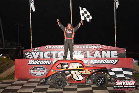 Austin Bellemare Victorious In Legends Return To Grandview Speedway