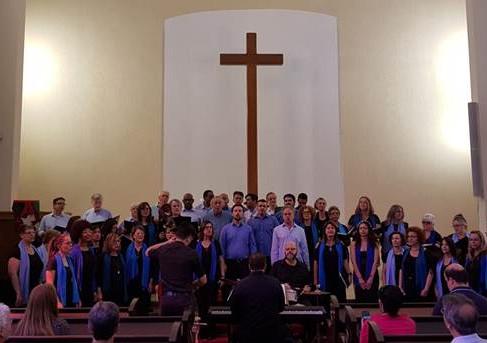 Coro da Usp na Igreja da Paz