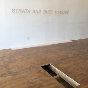 Wall engraving, Strata and Dust memory, 2019.
