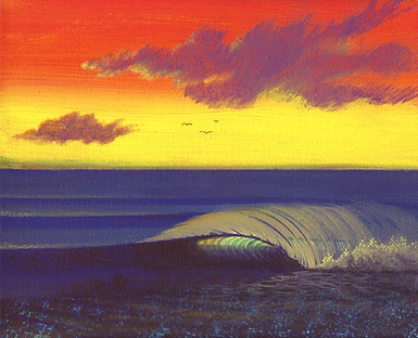 BACKLIT REEF WAVE