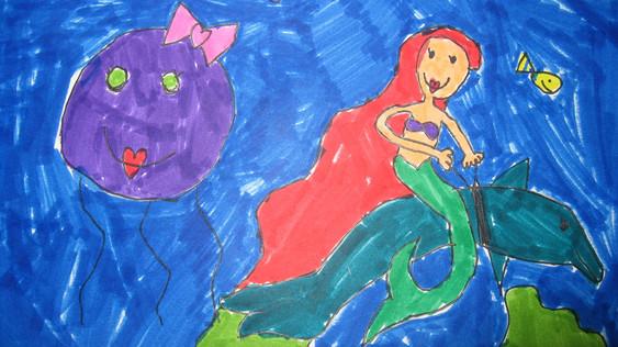 KID UNDERWATER SEASCAPE