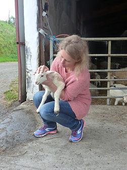 Dr Valérie Delavant vétérinaire ostéopathie acupuncture agneau technique crânio-sacrée difficulté à la succion