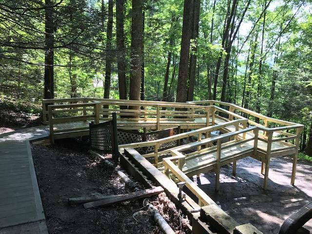 Custom Access Ramp on Steep Terrain