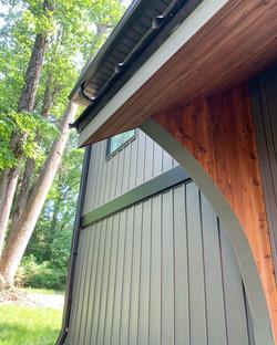 Metal and Cedar Custom Awning