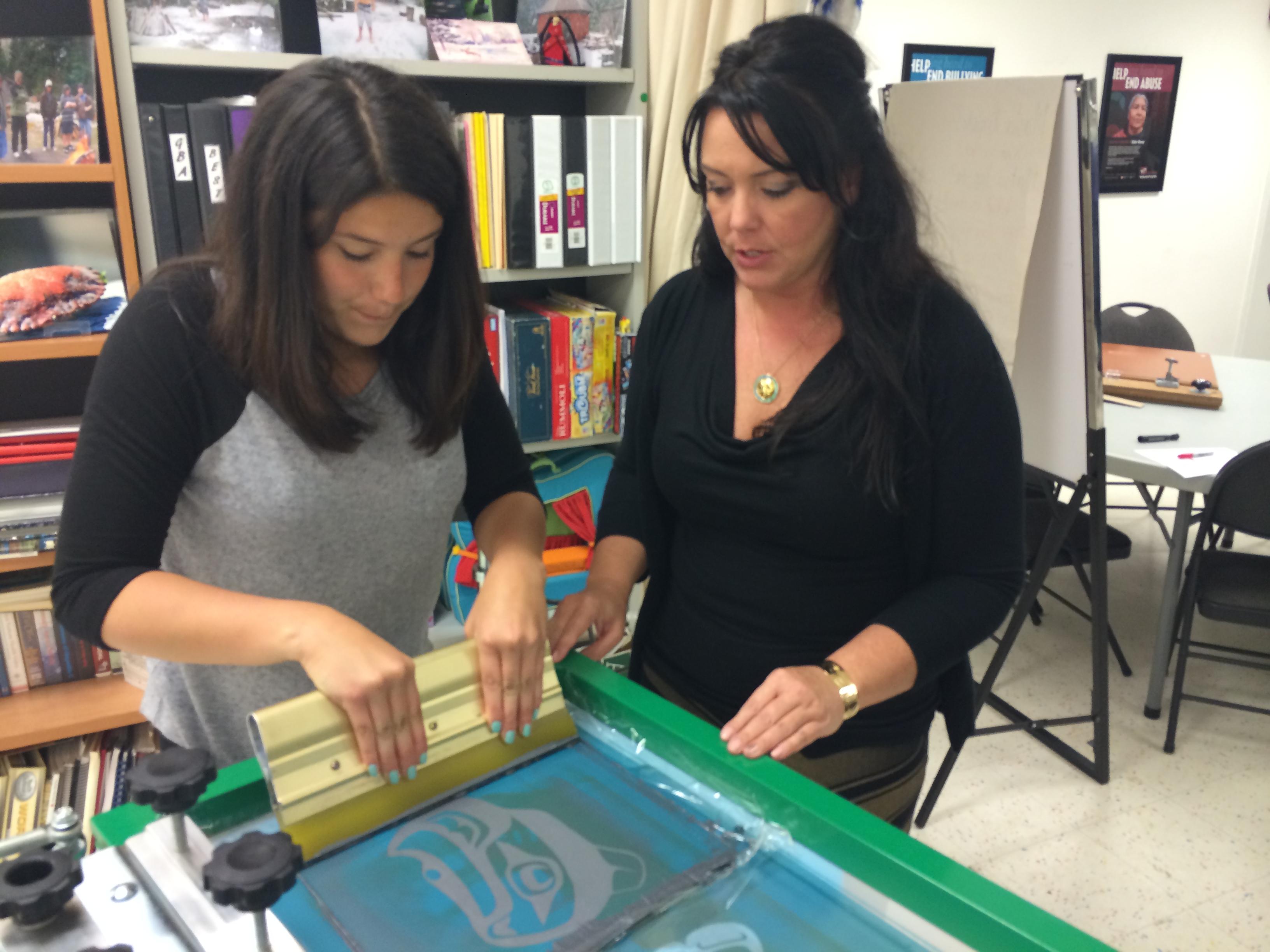 Erin & Daughter Screenprinting