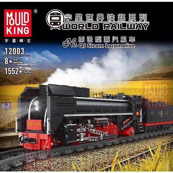 Mould King 12003 World Railway Qian Jin Dampflok 1552 Bausteine