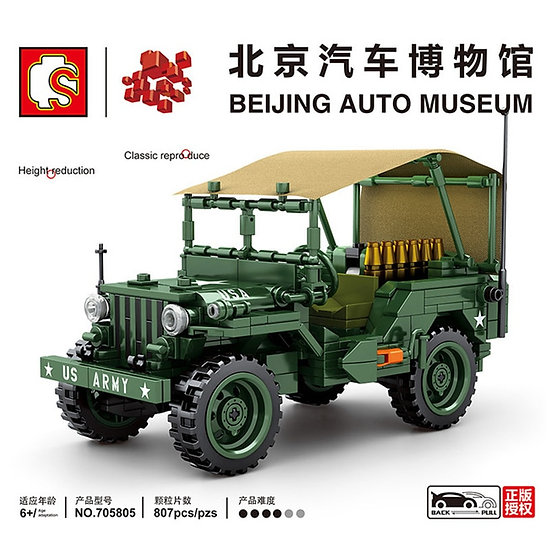 Sembo 705805 Willys MB offroad Vehicle Bausteine 807