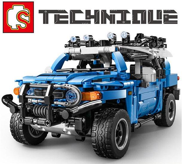 Sembo 8500 Blauer Geländewagen 999 Bausteine