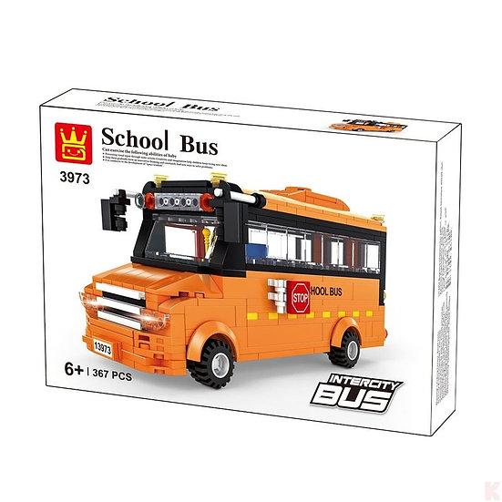 Wange 3973 School Bus mit 367 Bausteine