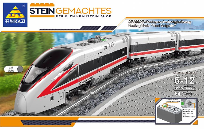 Kazi KY98229 Personen-Schnellzug mit Waggons und Schienenkreis 647 Bausteine