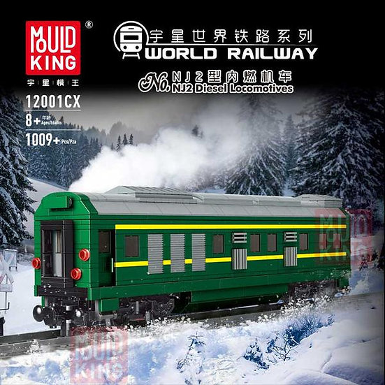 Mould King 12001cx World Railway KD25T Bausteine 1009